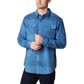 Columbia Flare Gun Camisa Pana Hombre, scout blue large check